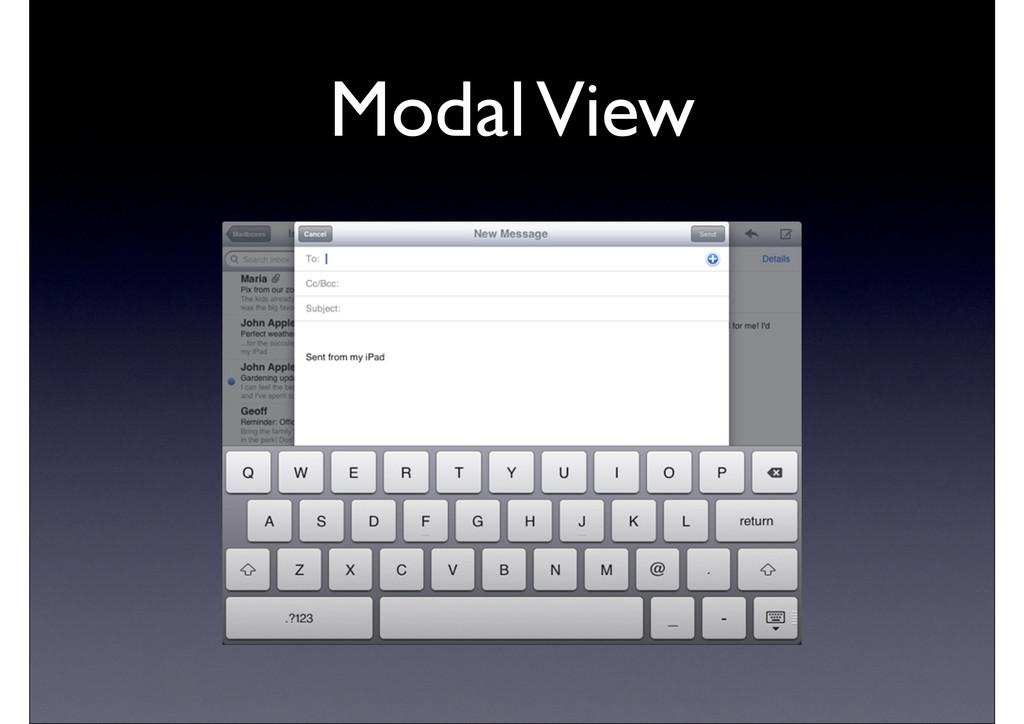 Modal View