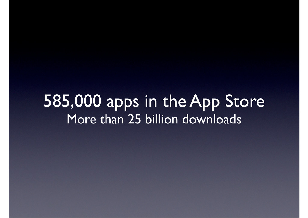 585,000 apps in the App Store More than 25 bill...