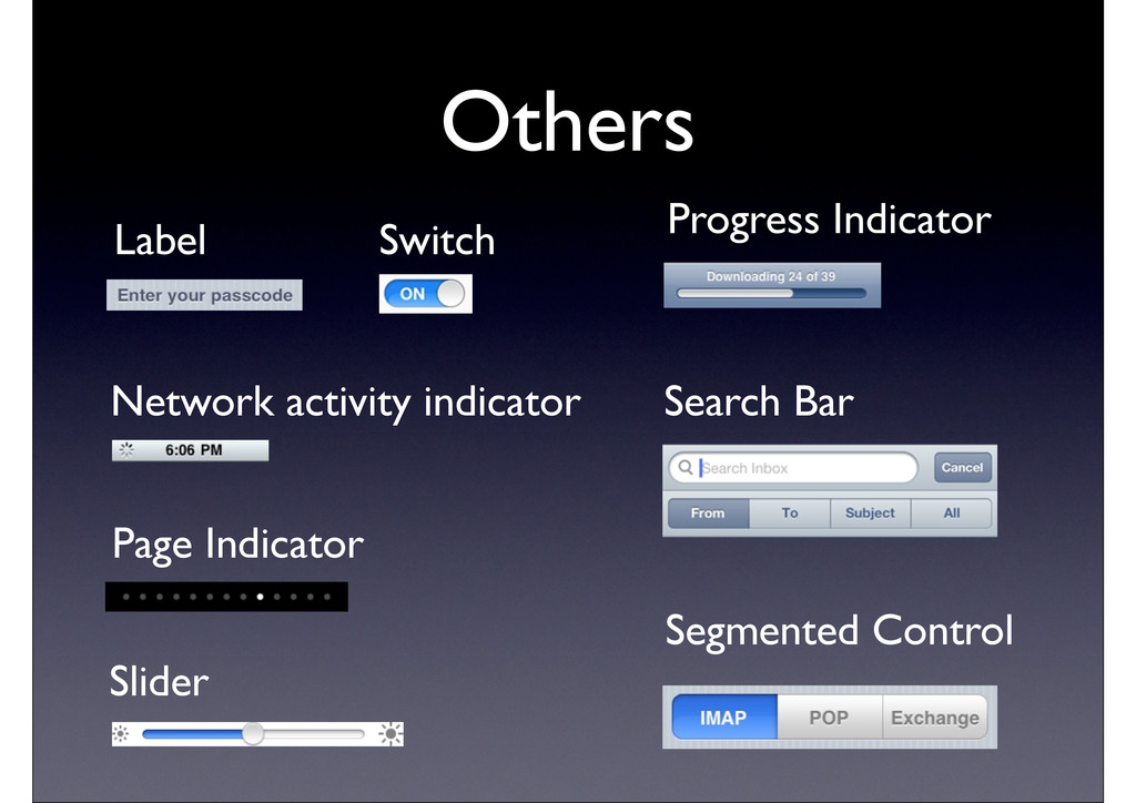 Others Network activity indicator Label Page In...