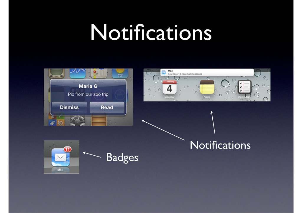 Notifications Badges Notifications