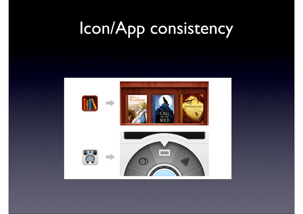 Icon/App consistency