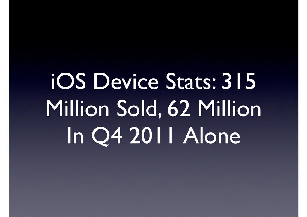 iOS Device Stats: 315 Million Sold, 62 Million ...