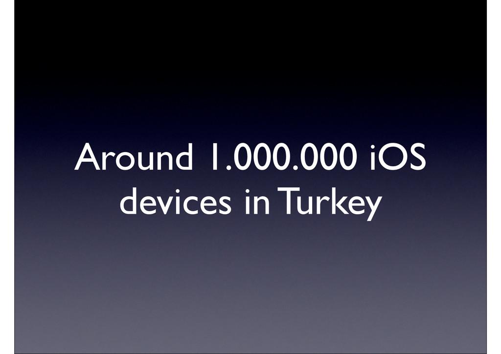 Around 1.000.000 iOS devices in Turkey