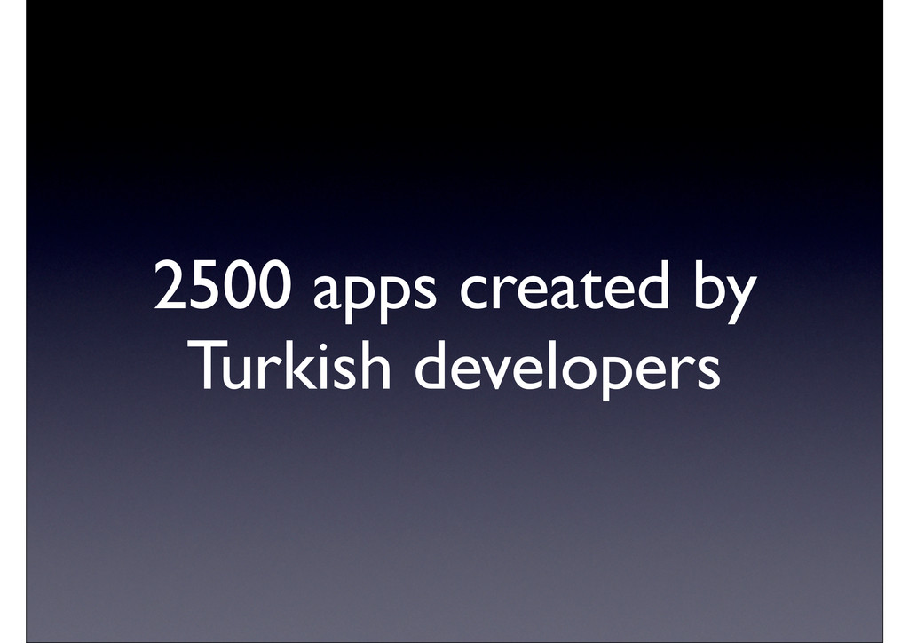 2500 apps created by Turkish developers