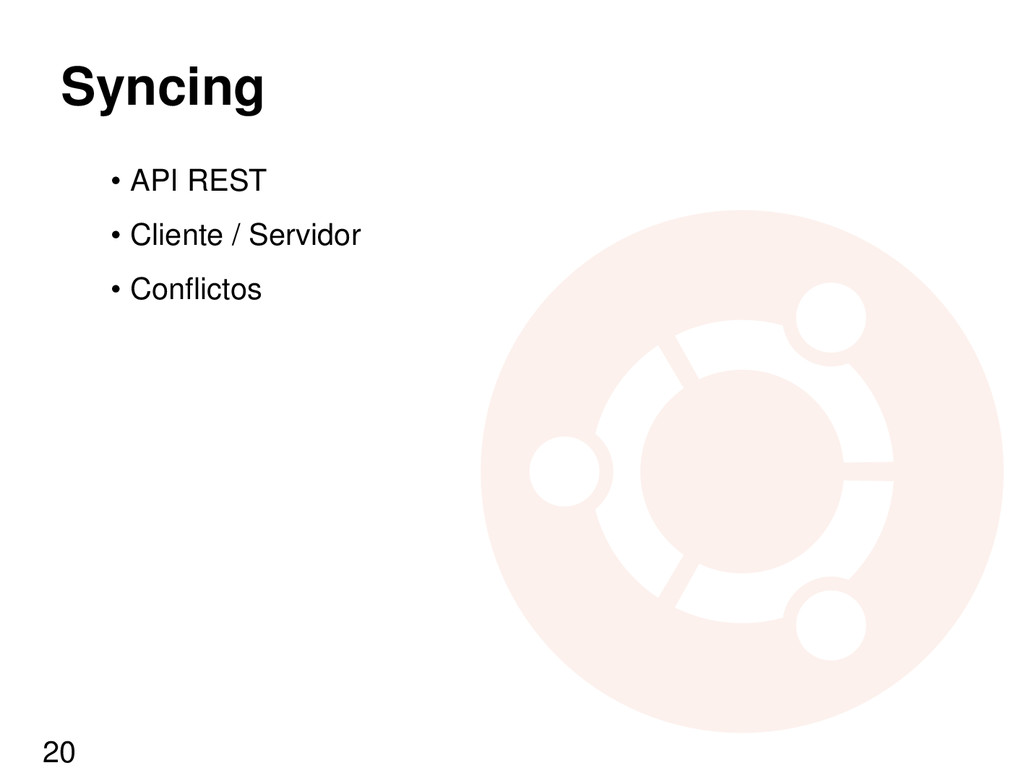 Syncing • API REST • Cliente / Servidor • Confl...