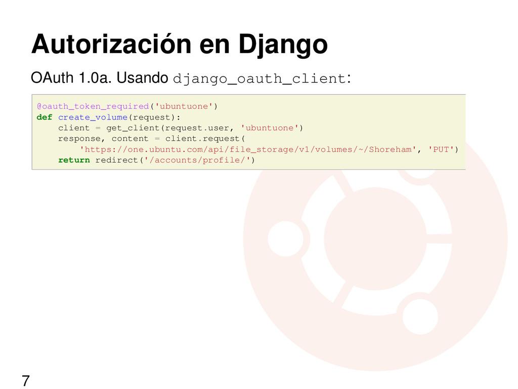Autorización en Django OAuth 1.0a. Usando djang...