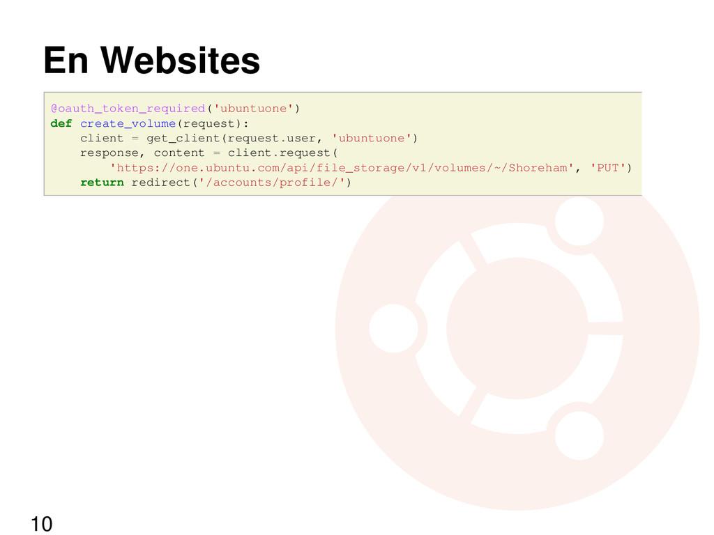 En Websites @oauth_token_required('ubuntuone') ...
