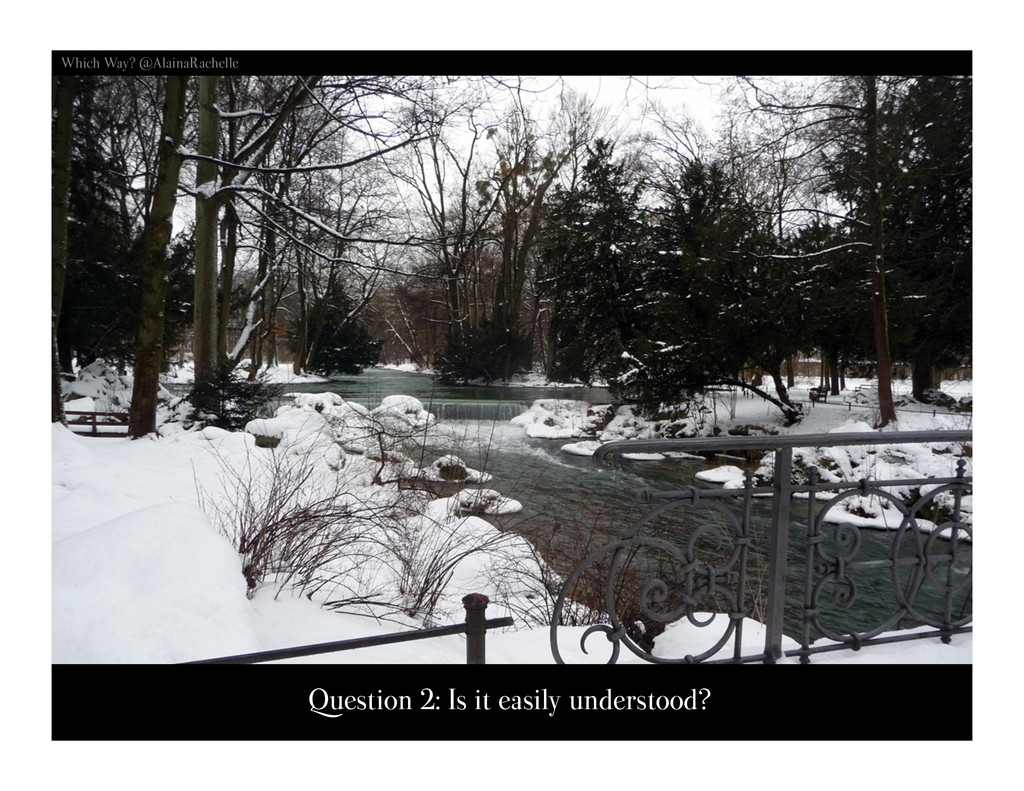 Question 2: Is it easily understood? Which Way?...