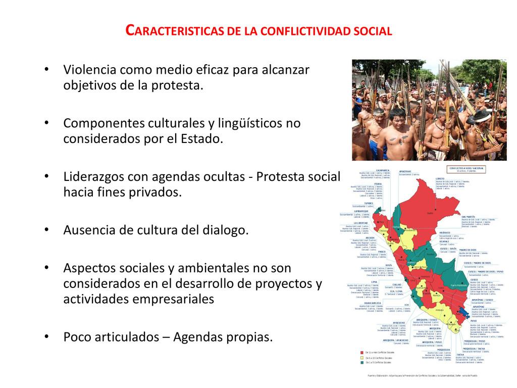 CARACTERISTICAS DE LA CONFLICTIVIDAD SOCIAL • V...