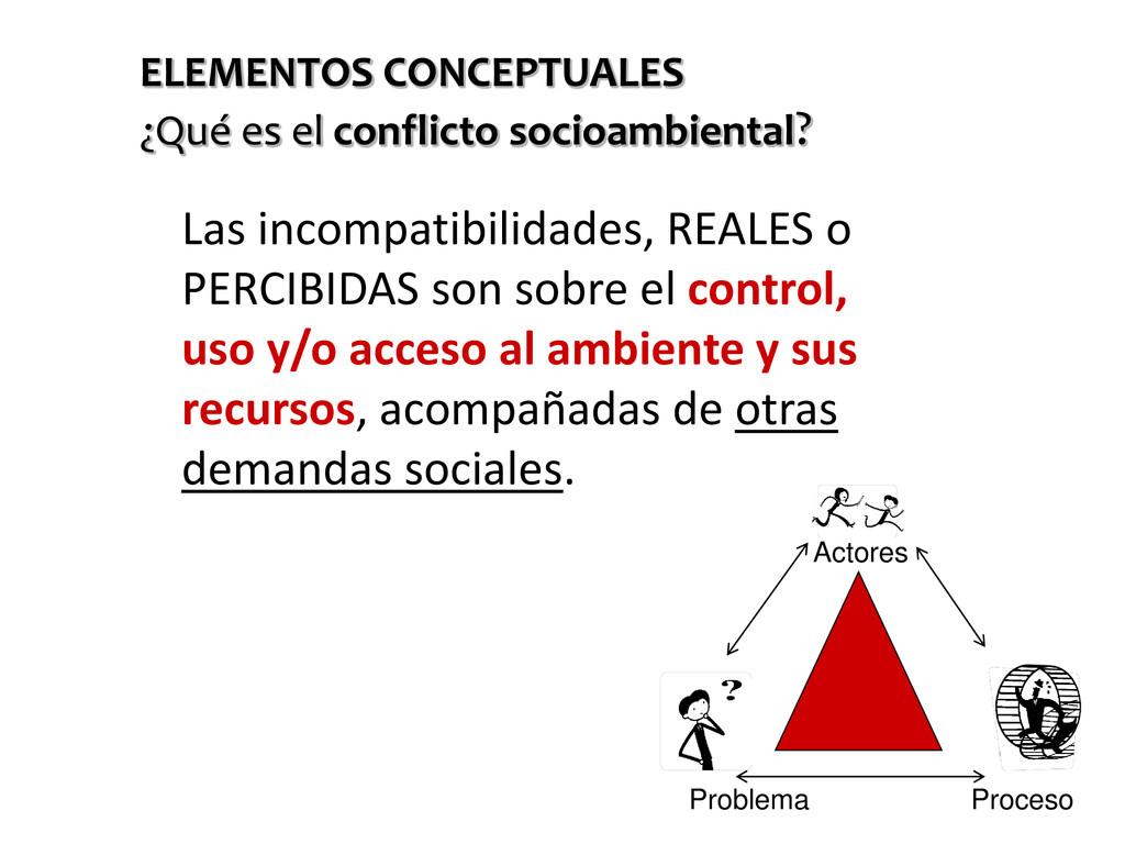 • Las incompatibilidades, REALES o PERCIBIDAS s...