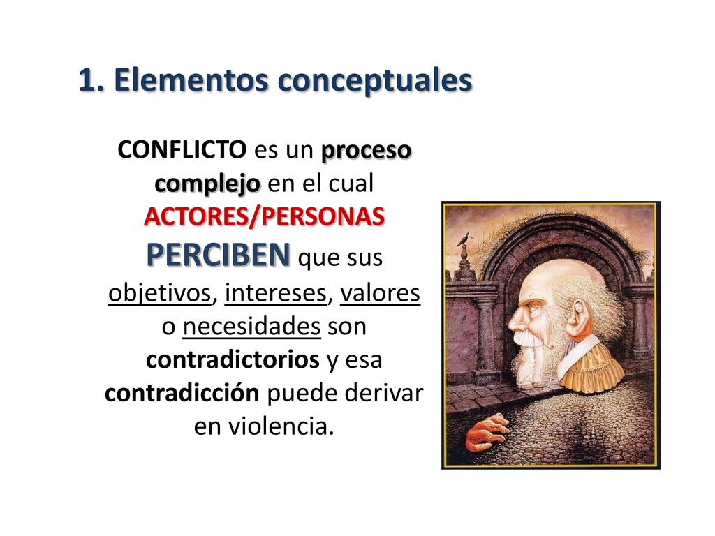 CONFLICTO es un proceso complejo en el cual ACT...