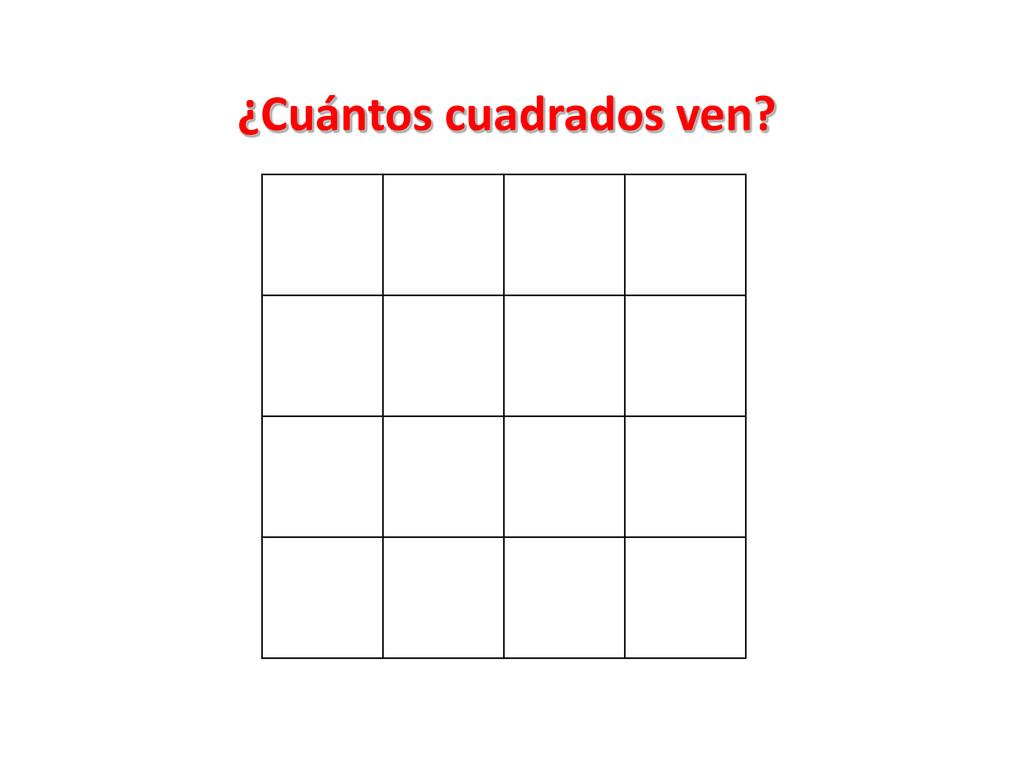 ¿Cuántos cuadrados ven?
