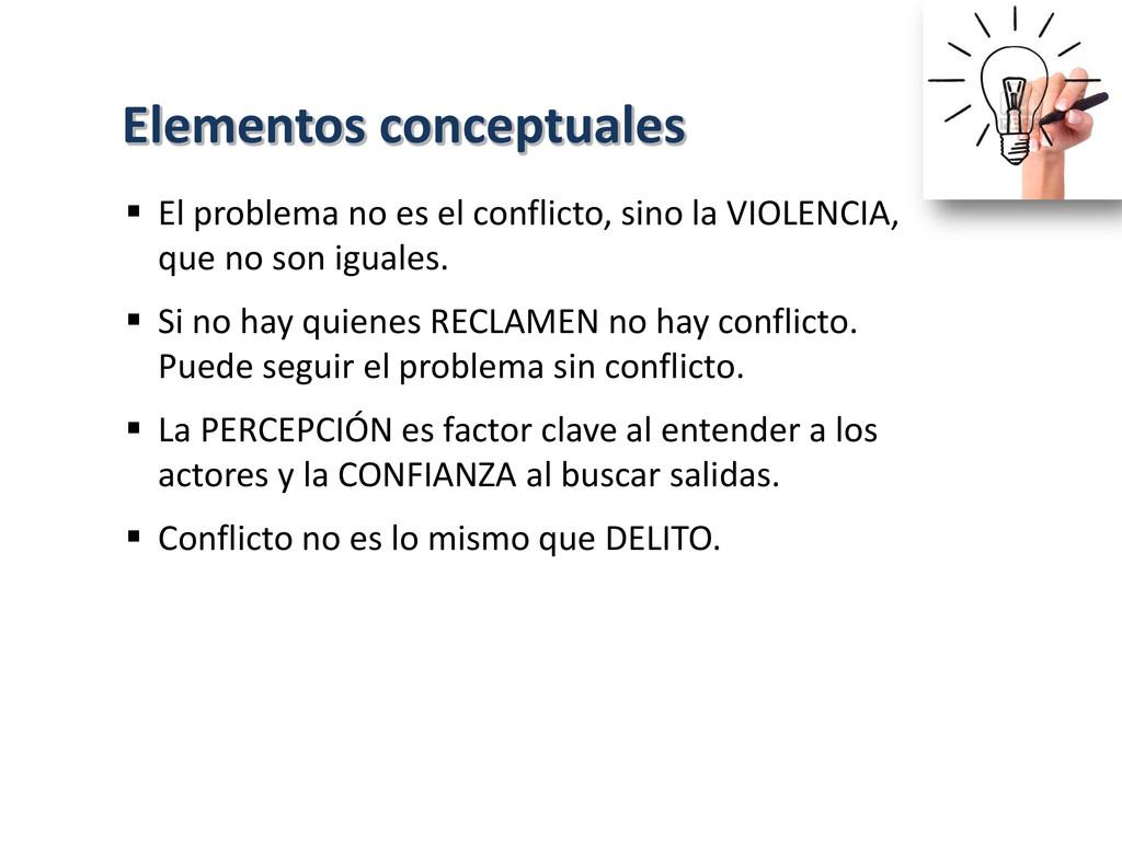 El problema no es el conflicto, sino la VIOLE...