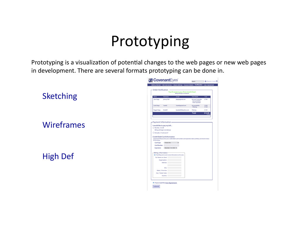 Prototyping  Prototyping is a visua...