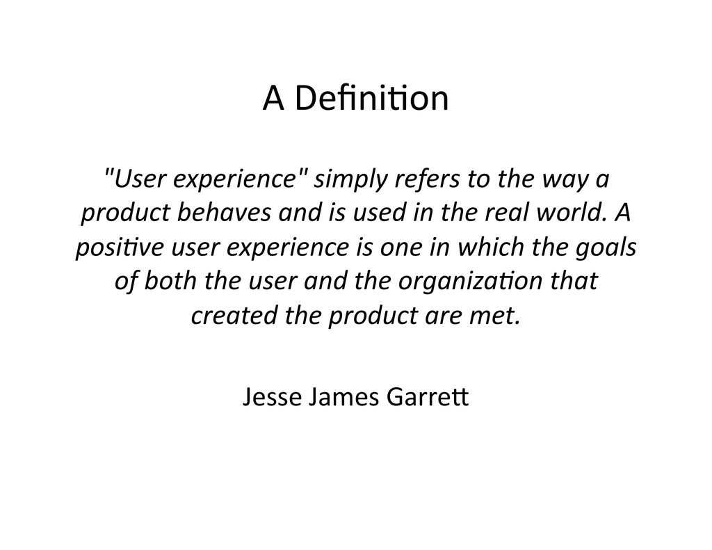 """A Defini(on  """"User experience"""" simpl..."""