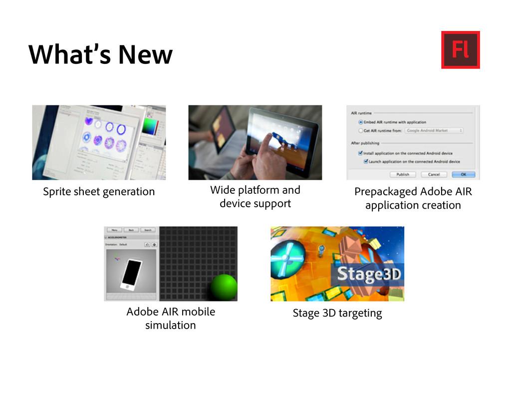 What's New Sprite sheet generation Wide platfor...