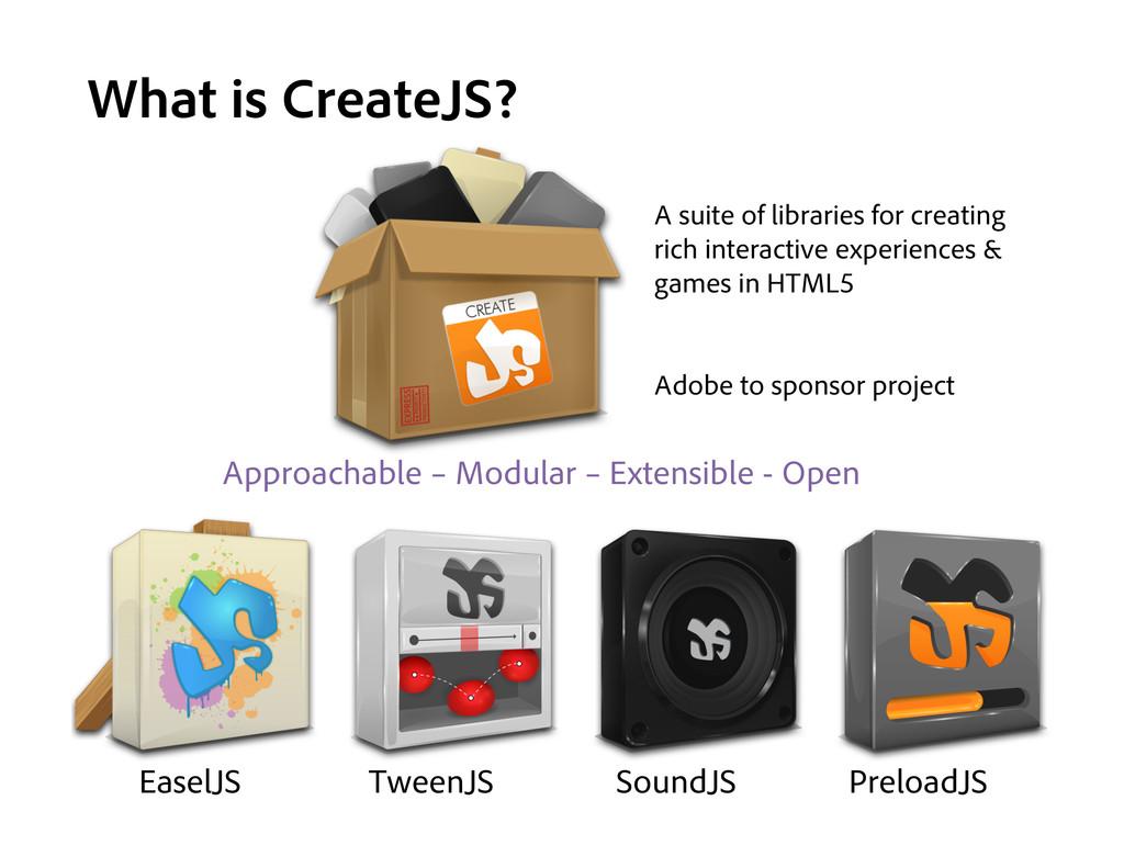 What is CreateJS? EaselJS TweenJS SoundJS Prelo...