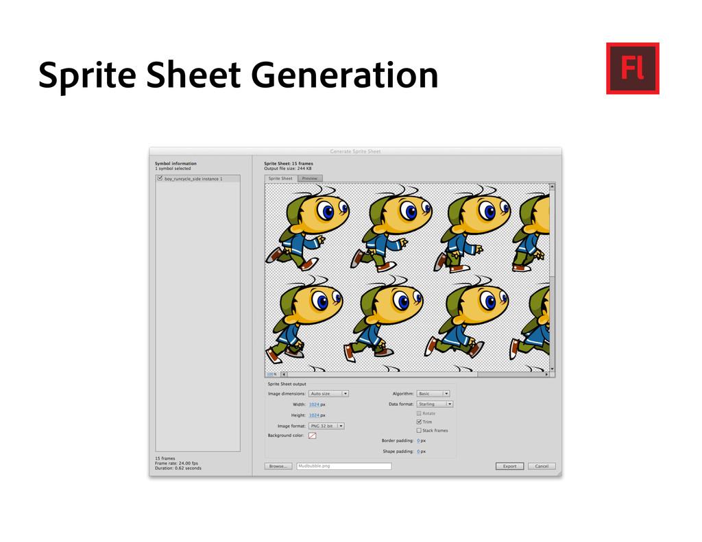 Sprite Sheet Generation