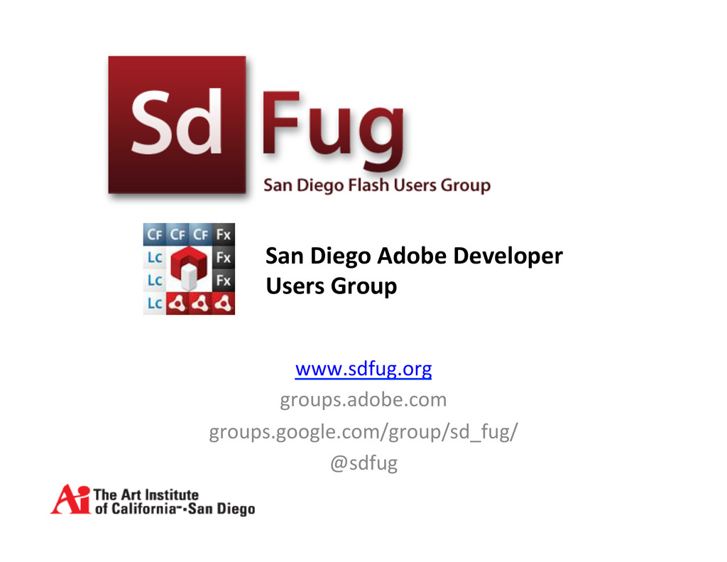 www.sdfug.org  groups.adobe.com  groups.g...