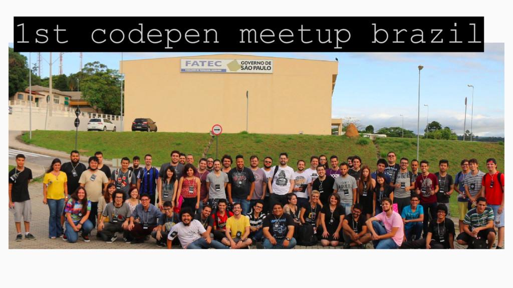 1st codepen meetup brazil