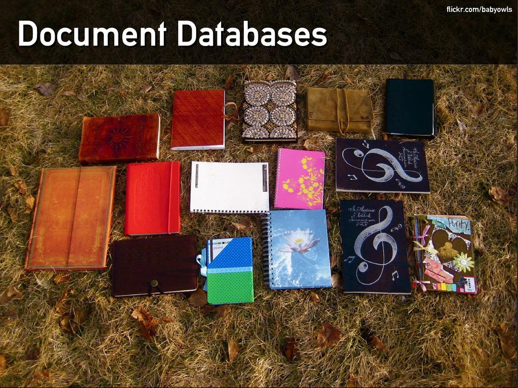 Document Databases Document Databases flickr.co...