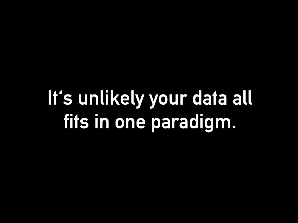 It's unlikely your data all It's unlikely your ...