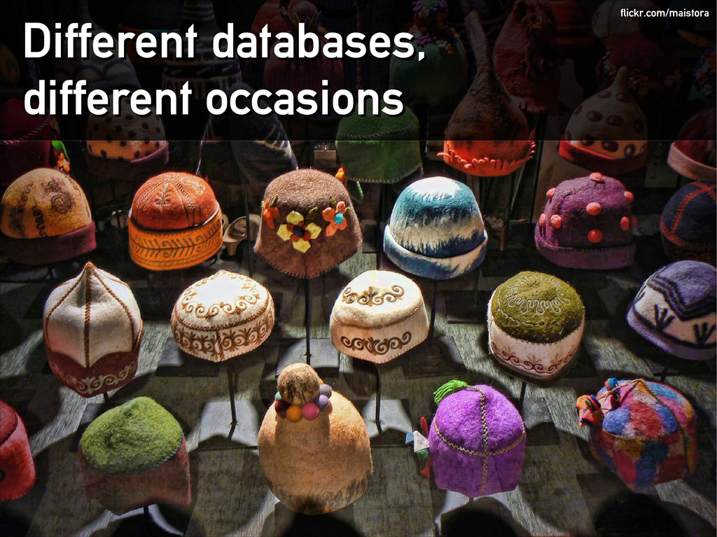 Different databases, Different databases, diffe...