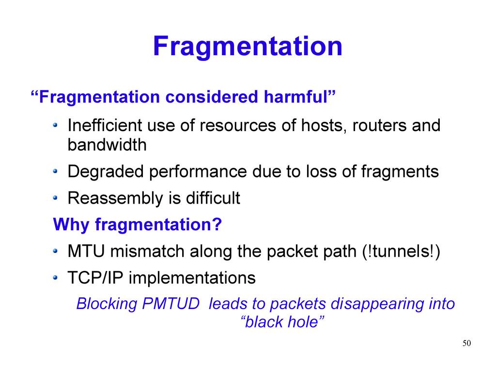 "50 Fragmentation ""Fragmentation considered harm..."