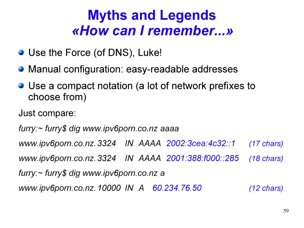 59 Myths and Legends «How can I remember...» Us...