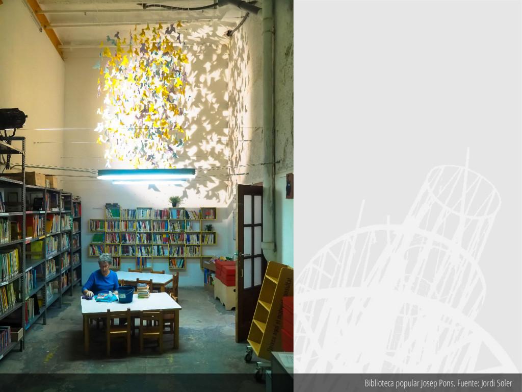 Biblioteca popular Josep Pons. Fuente: Jordi So...