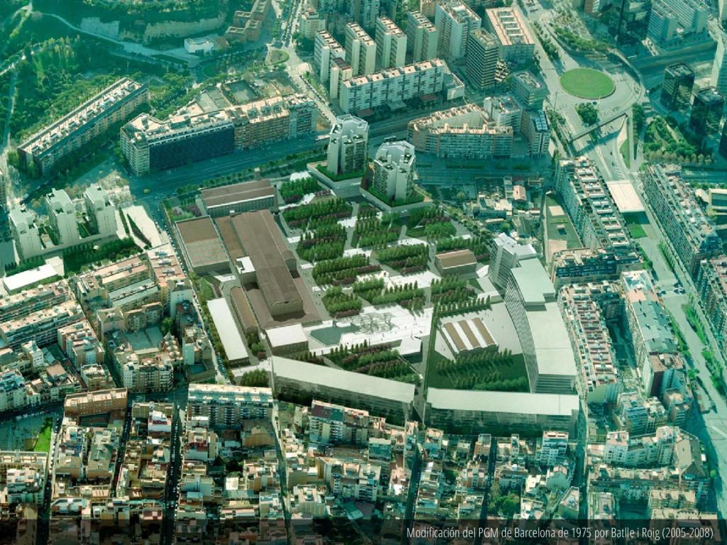 Modificación del PGM de Barcelona de 1975 por B...