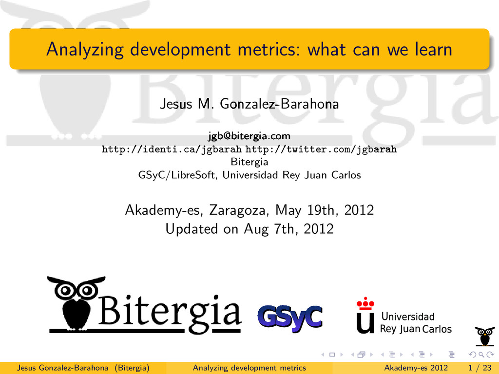 Analyzing development metrics: what can we lear...