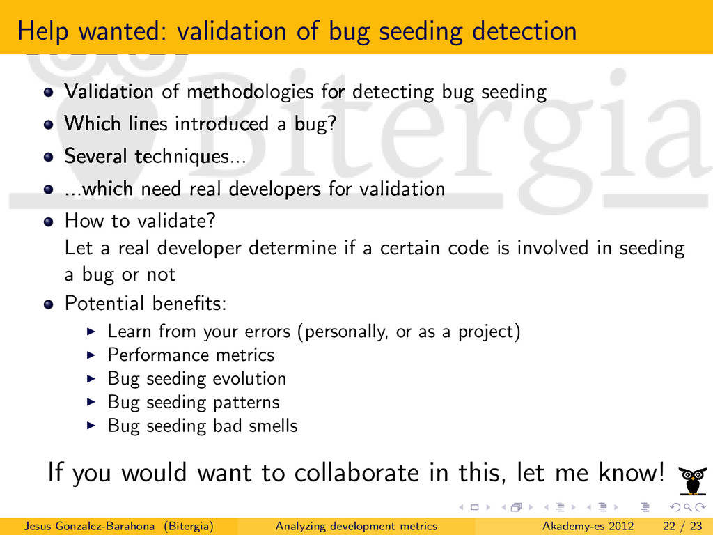 Help wanted: validation of bug seeding detectio...