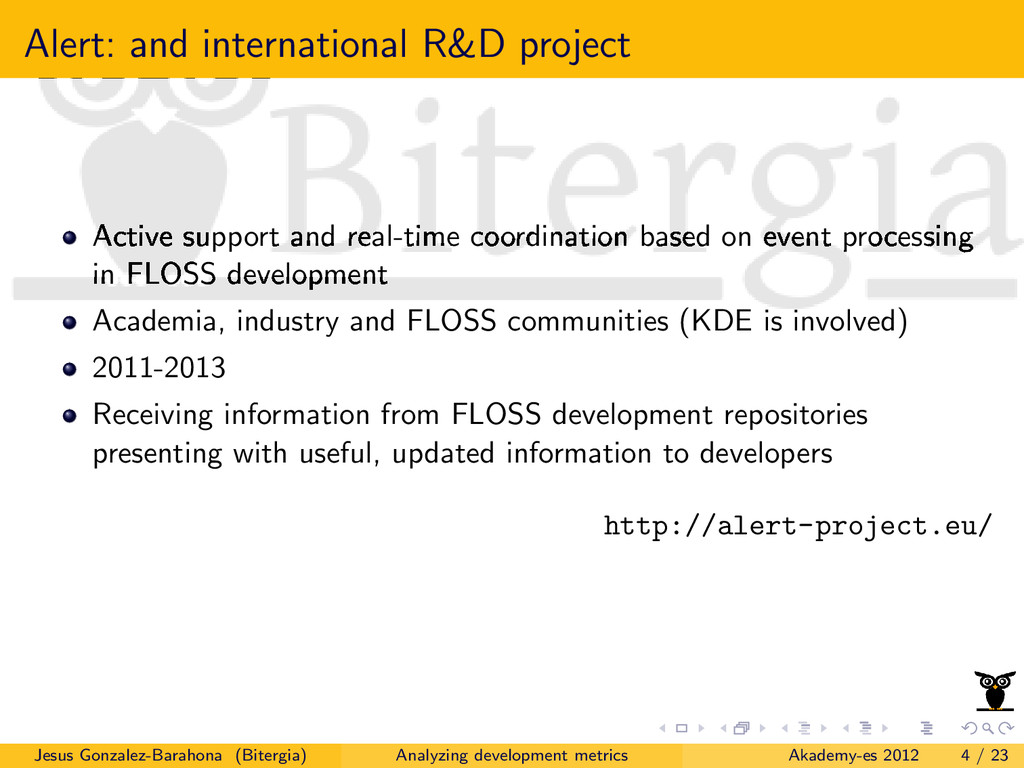 Alert: and international R&D project Active sup...