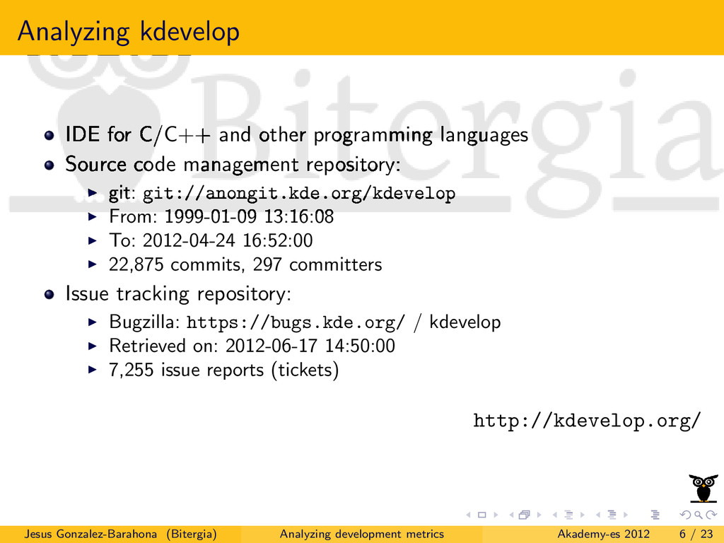 Analyzing kdevelop IDE for C/C++ and other prog...
