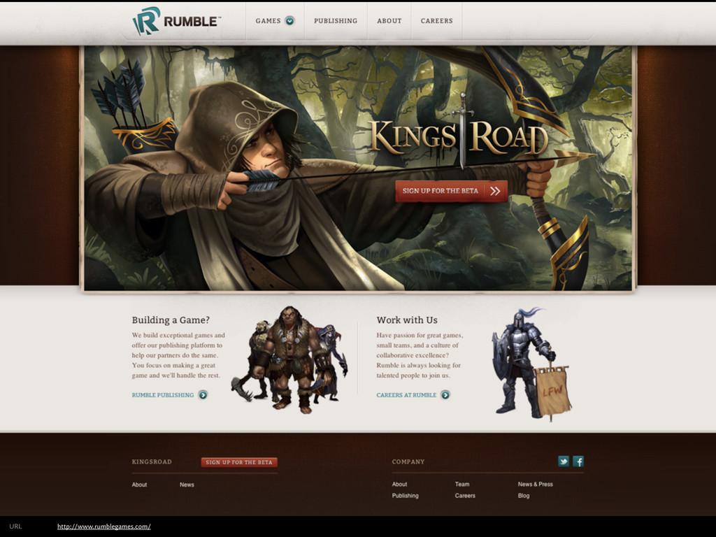 http://www.rumblegames.com/ URL