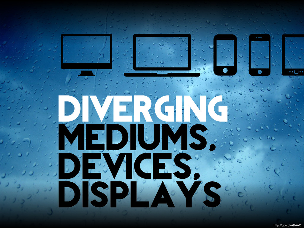 diverging mediums, devices, displays http://goo...