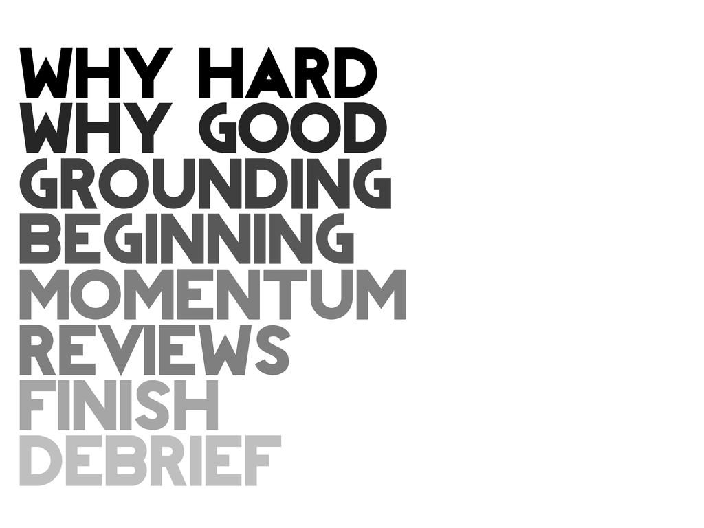 why hard why good grounding BEGINNING momentum ...