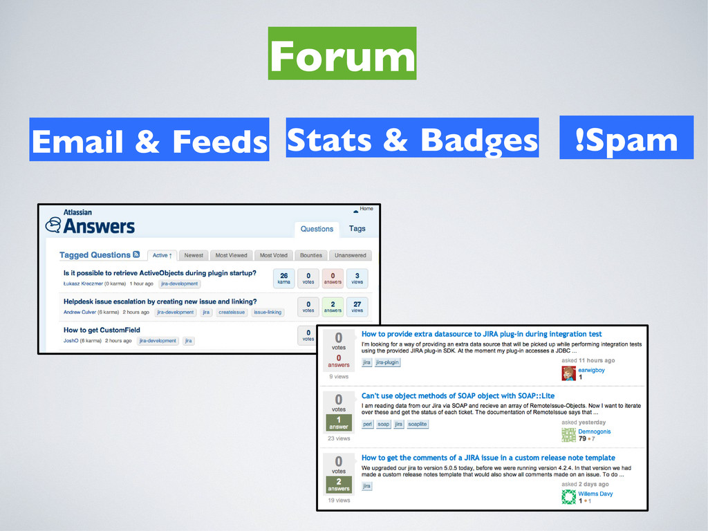 Forum Email & Feeds !Spam Stats & Badges