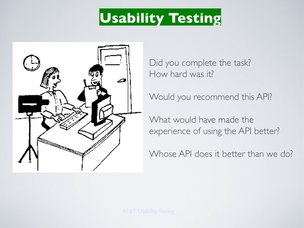 Usability Testing AT&T Usability Testing Did yo...