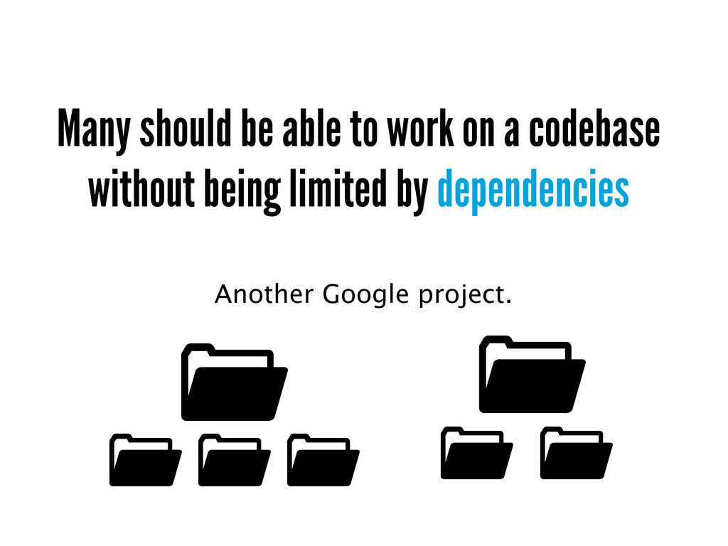 Many should be able to work on a codebase witho...
