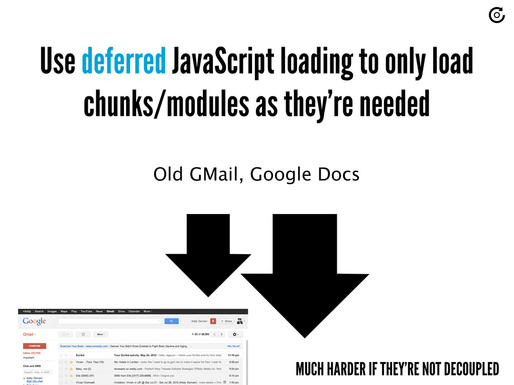 Use deferred JavaScript loading to only load ch...