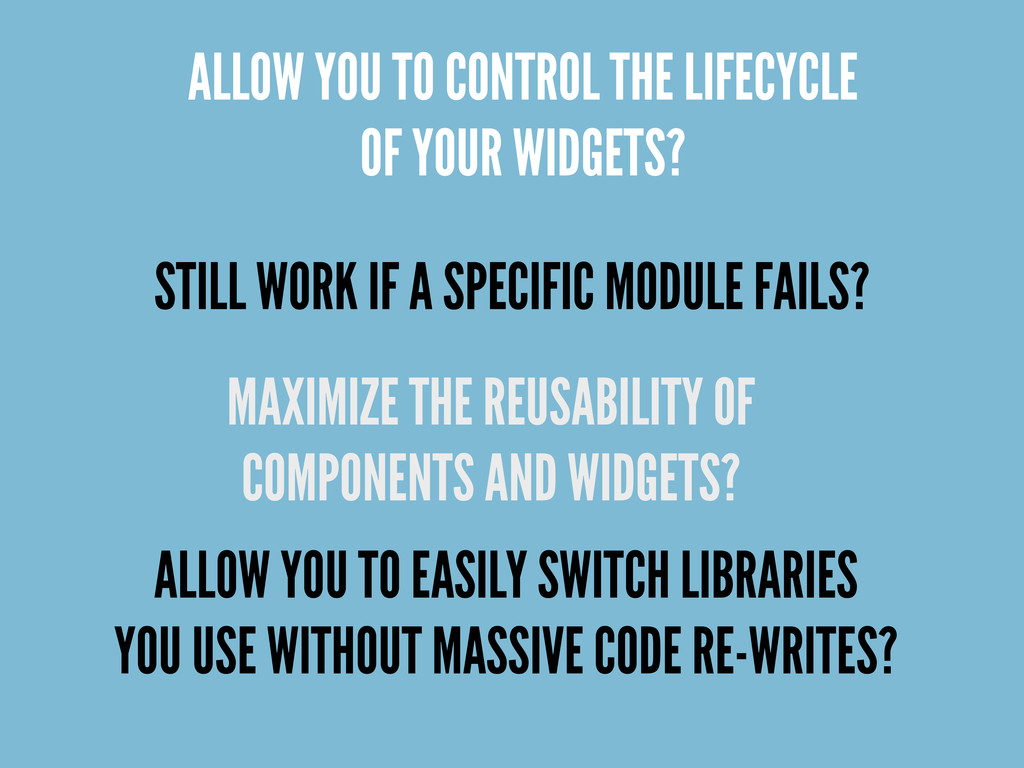 ALLOW YOU TO CONTROL THE LIFECYCLE OF YOUR WIDG...