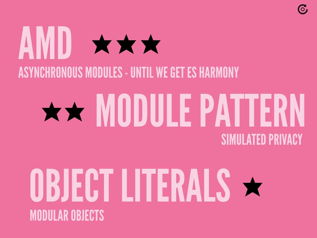 MODULE PATTERN OBJECT LITERALS AMD ASYNCHRONOUS...