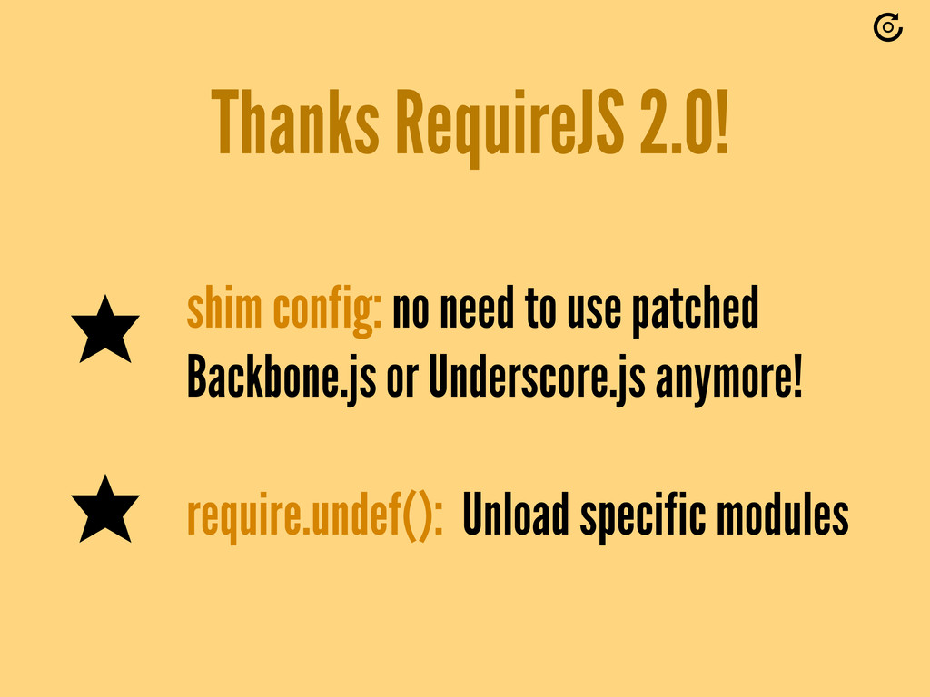 Thanks RequireJS 2.0! shim config: no need to u...