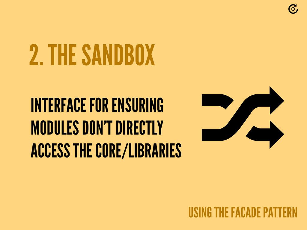 2. THE SANDBOX USING THE FACADE PATTERN INTERFA...