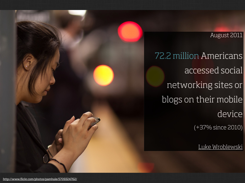 August 2011 72.2 million Americans accessed soc...