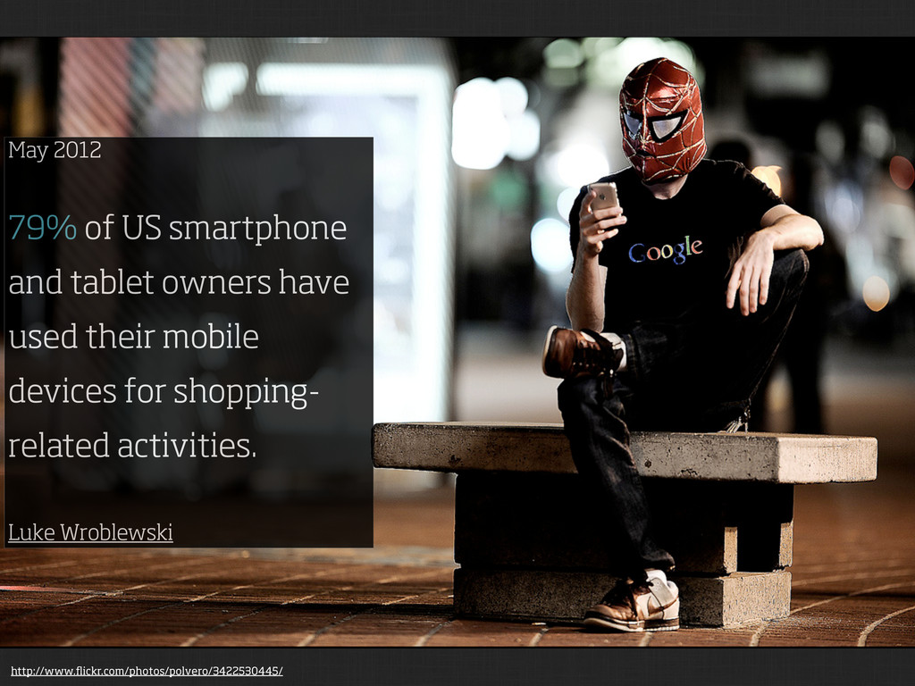 May 2012 79% of US smartphone and tablet owners...