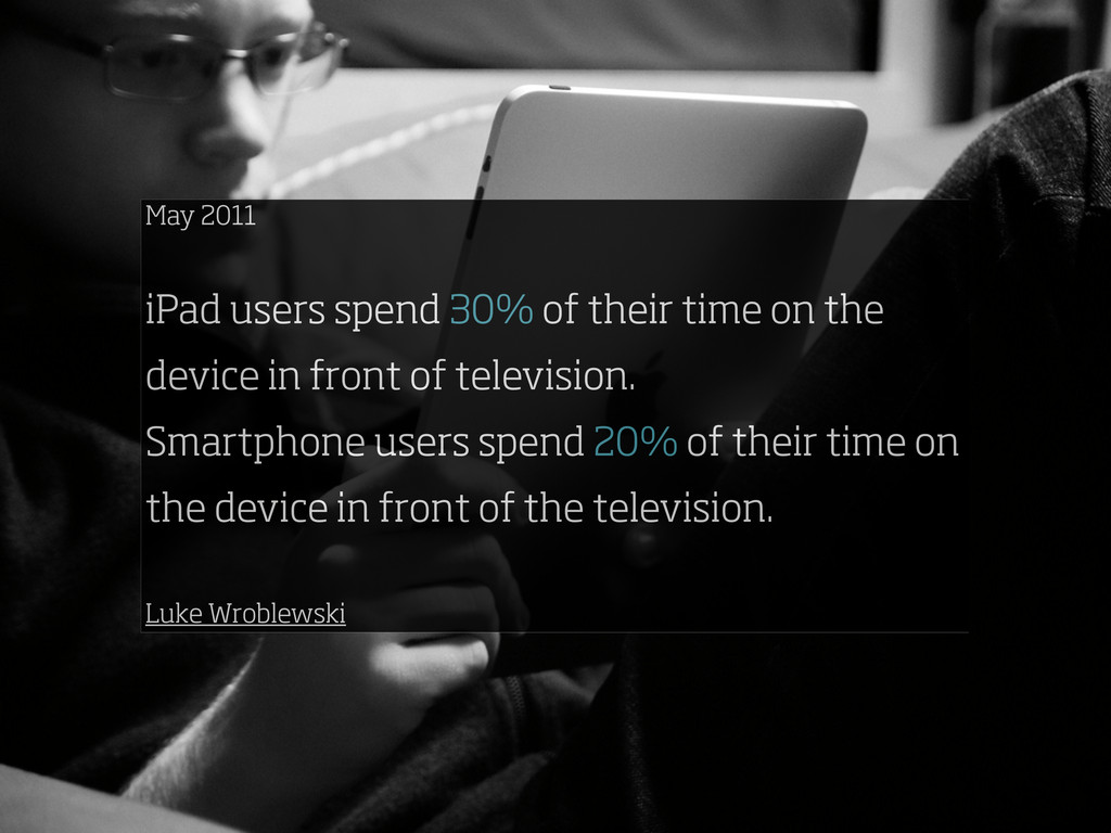 May 2011 iPad users spend 30% of their time on ...