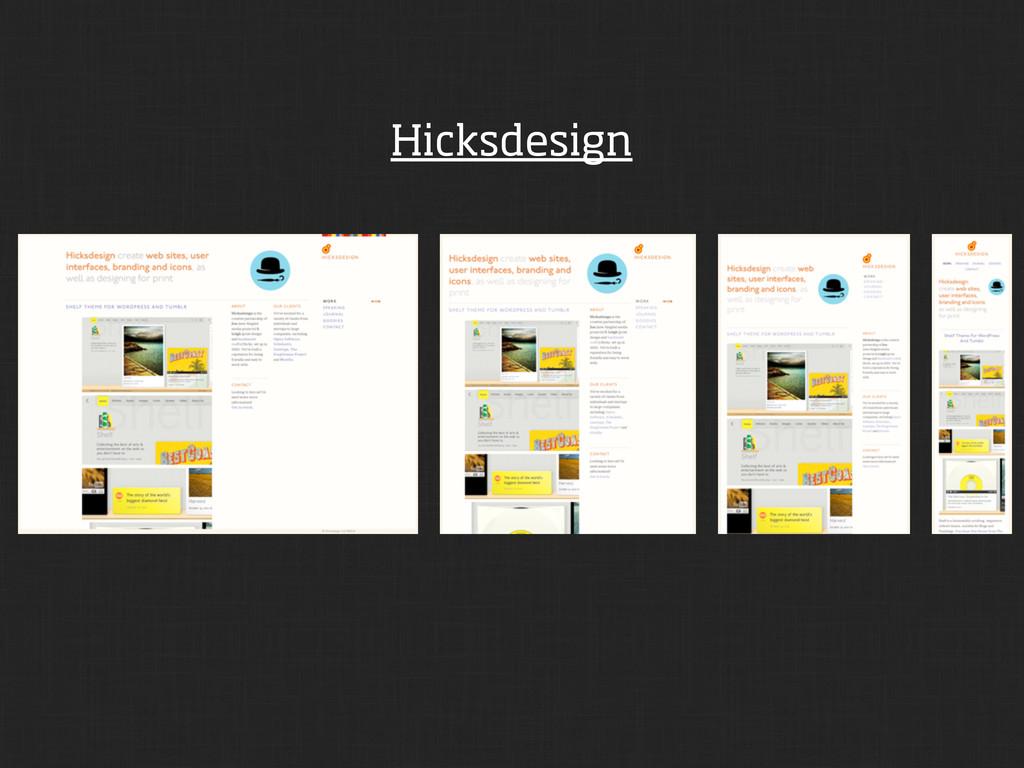 Hicksdesign
